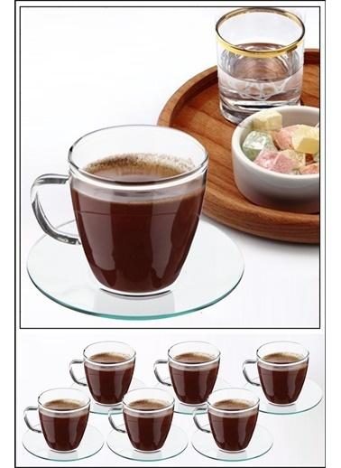 Kitchen Love Kitchen Love 6'lı 150 ml Cam Kahve Fincanı Seti Renksiz